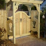 Custom Gate with Pergola