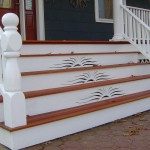 Front Porch Steps with Custom Risers