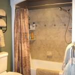 Custom Arched Trim Around Bathtub