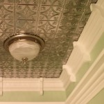 Custom Crown Molding and Tin Ceiling