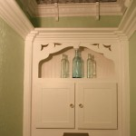 Custom Built-in, Crown Molding and Tin Ceiling