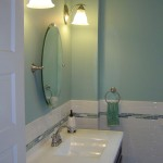 Renovated Bathroom with Custom Crown Molding