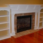 Custom Wood Framed Fireplace with Built-ins