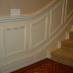 Custom Chair Rail and Wall Frame Paneling