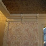 Custom Crown Molding with Engraved Trim