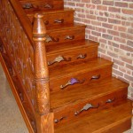Stained Stairs with Custom Risers