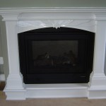 Custom Framed Fireplace and Mantle