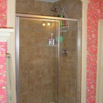 Arched Trim Around Shower Stall