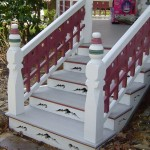 Porch Steps with Custom Riser - After