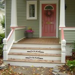 Front Porch with Custom Riser